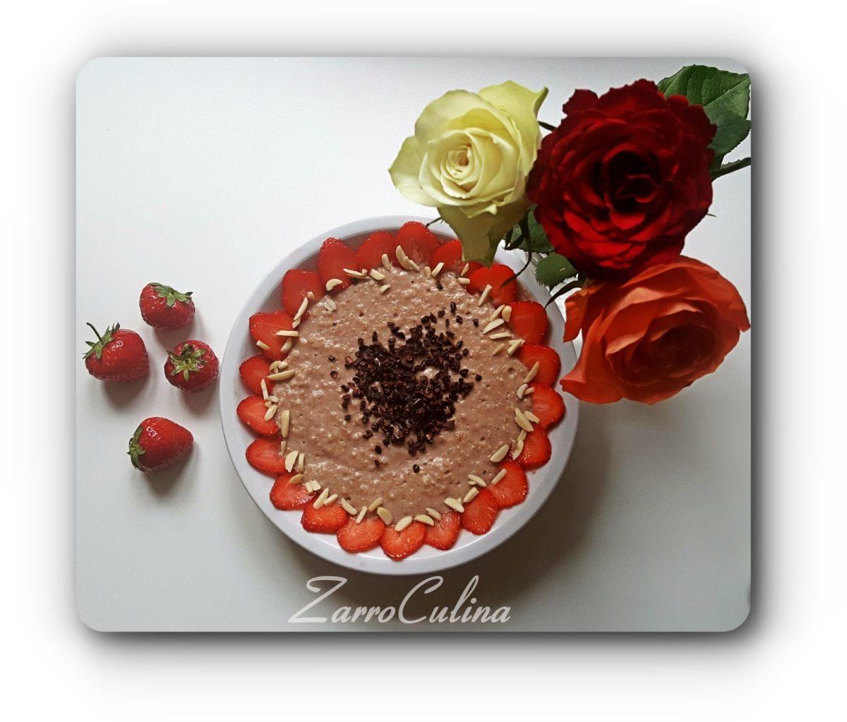 Gute Laune Erdbeer Schoko Porridge