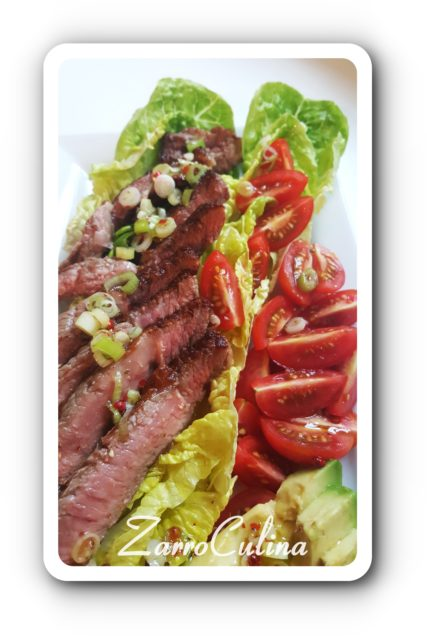 Ribeye Steak Salat mit Avocado - III
