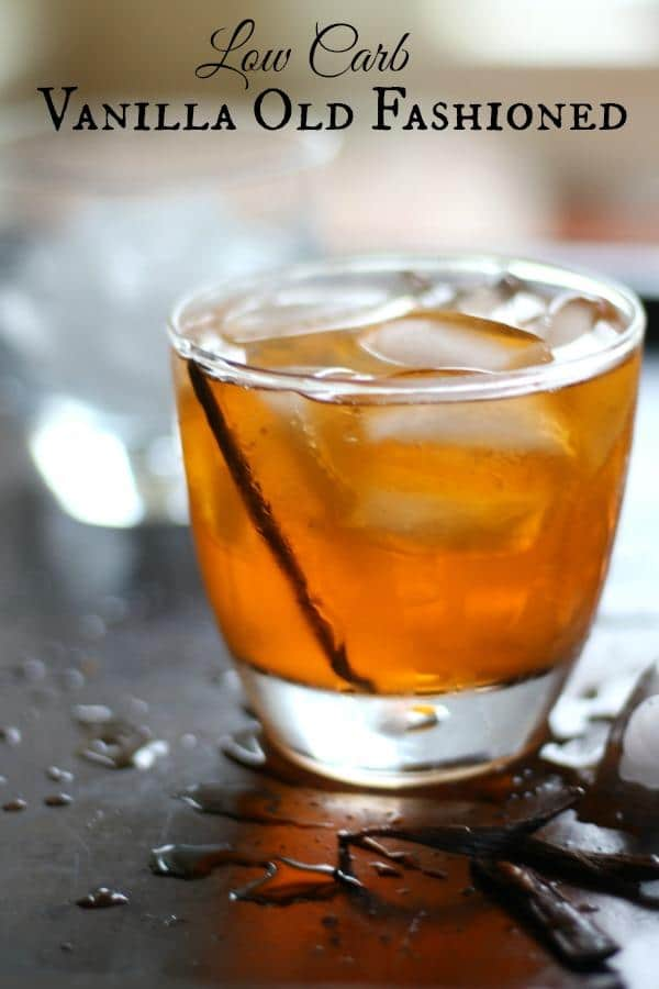 Vanilla Old Fashioned Cocktail   lowcarb ology This low carb vanilla old fashioned is a delicious twist on a classic  cocktail  From