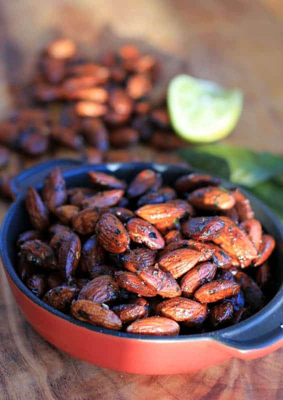 Red Chili Kaffir Lime Toasted Almonds