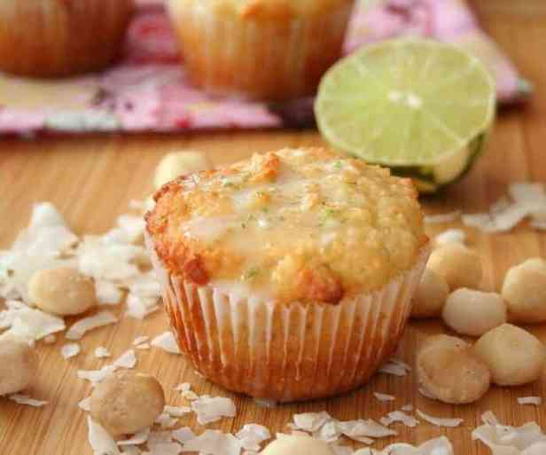 Low-Carb Macadamia Coconut Lime Muffins
