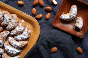 vanilla almond crescents