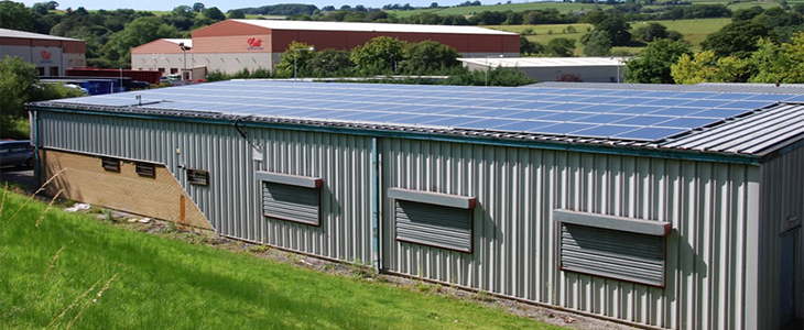 small business premises with solar