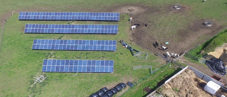 solar installation on farm