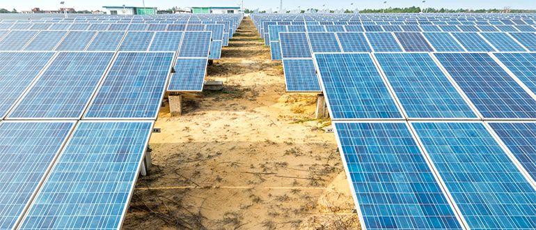 Solar farm in USA
