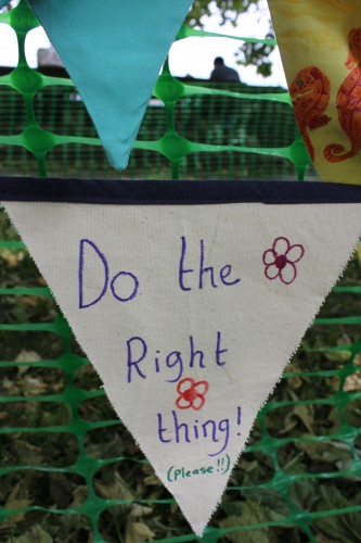 Do the right thing bunting