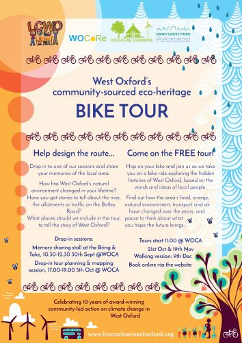 Bike tour drop-in planning & mapping session @ West Oxford Community Centre (WOCA)