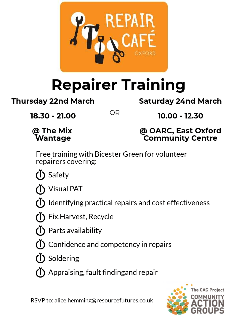 Repairer Training @ OARC, East Oxford Community Centre