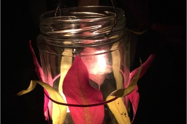 Quick autumn lantern 'how to' for kids big and small