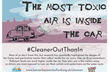 TODAY: see our art installation 11am-2pm in Bonn Square for CLEAN AIR DAY!