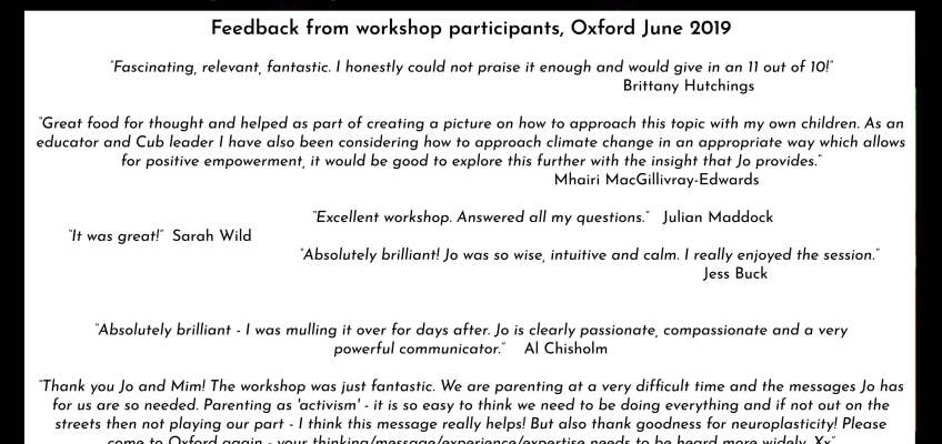 That went well then! Feedback from Jo McAndrew's talk