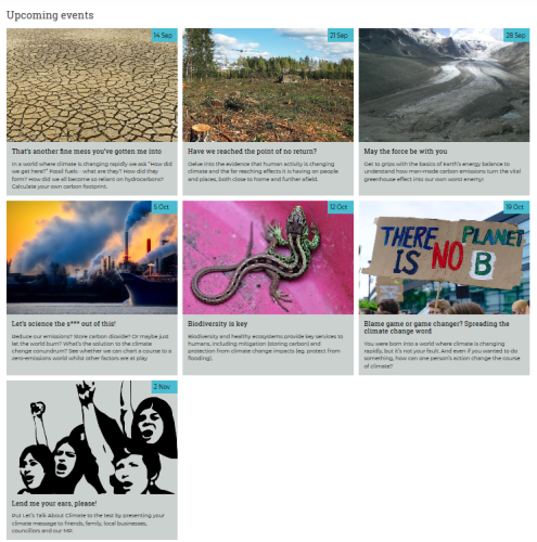 Let's Talk about Climate – series of 6 FREE interactive workshops for 15-19yr olds [Ox Uni Museum of Natural History] @ Oxford University Museum of Natural History