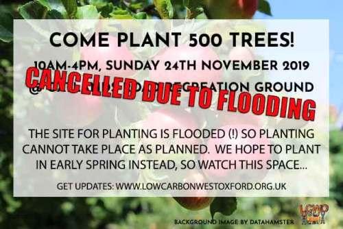 POSTPONED till Spring 2020: West Oxford TREE PLANTING @ Oatlands Park   England   United Kingdom