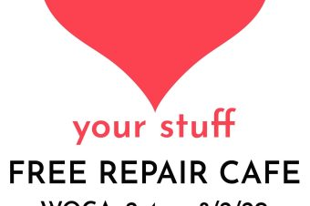 Volunteer at our REPAIR CAFE on Feb 8th – can you spare an hour?  No experience necessary!