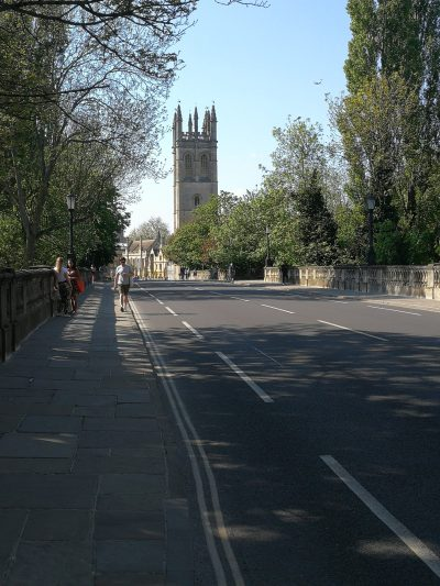 Magdalen Bridge under lockdown, Neville Scrivener
