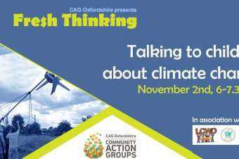 How to talk to kids about climate change in a safe and empowering way – workshop on November 2nd!