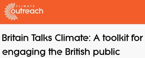 Britain Talks Climate: A toolkit for engaging the British public [Climate Outreach Webinar] @ Online event