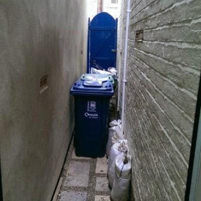Side alley BEFORE EWI installation