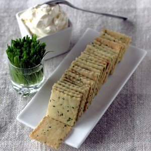 Chives andSour Cream Crackers; crackers, chives and sour cream | Low-Carb, So Simple!
