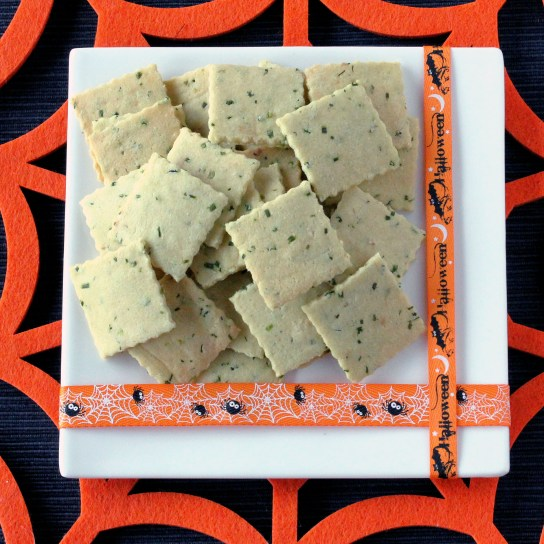 Chives and Sour Cream Crackers; Ready for Halloween | Low-Carb, So Simple!