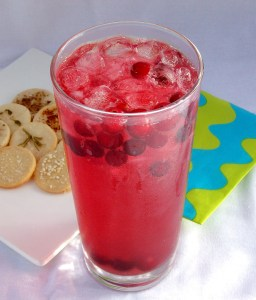 An Alcohol-Free Variation: Cranberry Toffee Spritzer