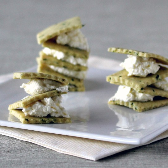 Chives and Sour Cream Crackers, Piles with Cream Cheese Filling | Low-Carb, So Simple!