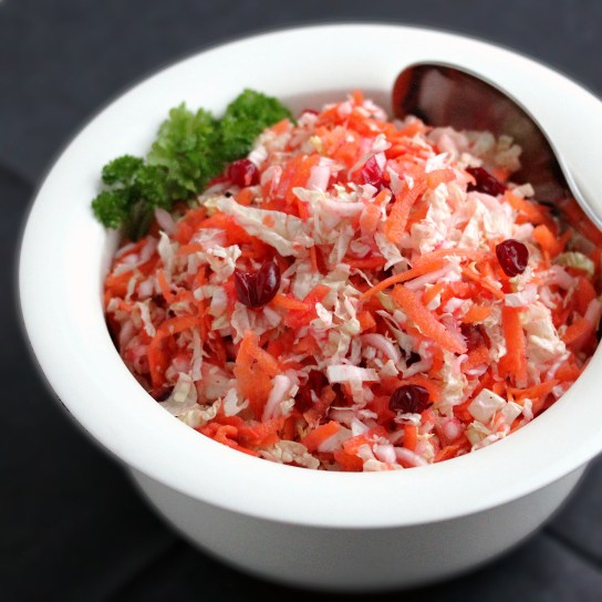 Fresh Carrot Cranberry Salad | Low-Carb, So Simple!