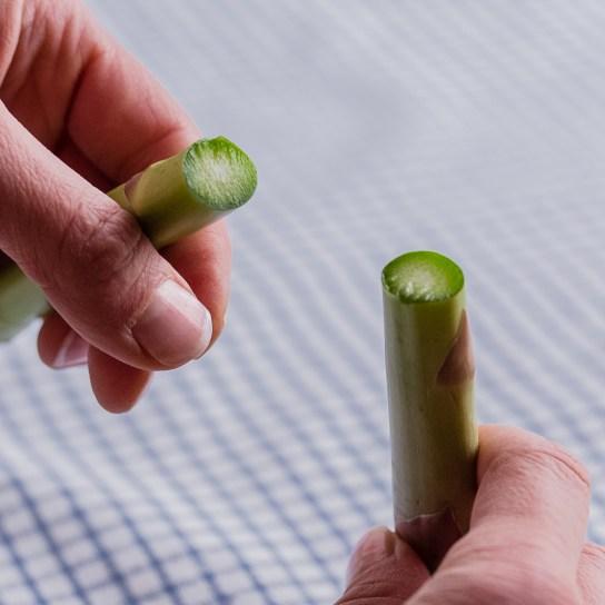 Smoky Asparagus, Trimming the Asparagus | Low-Carb, So Simple!