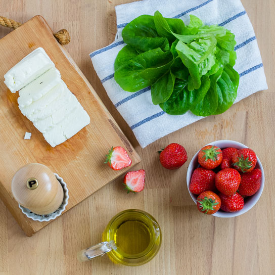 Strawberry Halloumi Salad; Ingredients | Low-Carb, So Simple!