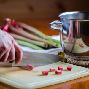 Rhubarb Chutney, Chopping the Rhubarb | Low-Carb, So Simple!