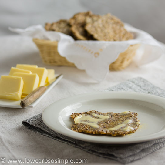 Gluten-Free, Dairy-Free Crisp Bread; Bread and Butter | Low-Carb, So Simple!