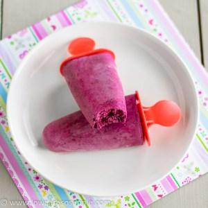 Frozen Blueberry Yogurt Ice Pops | Low-Carb, So Simple!