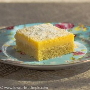 Luscious Low-Carb Lavender Lemon Bars   Low-Carb, So Simple!
