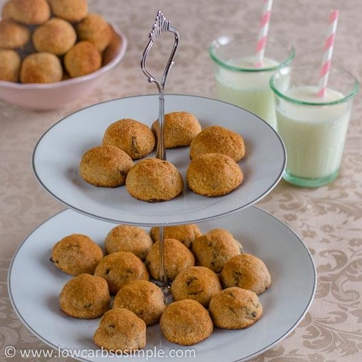 Heavenly Cinnamon Bites; Cinnamon Bites with Dried Cherries and Raisins   Low-Carb, So Simple!