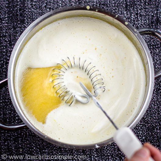 Cream of Pumpkin Soup; Whisking Gently | Low-Carb, So Simple!
