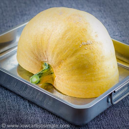 Pumpkin Half on Roasting Pan | Low-Carb, So Simple!