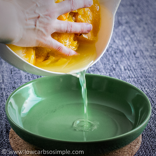Pouring away the Excess Fluid | Low-Carb, So Simple!