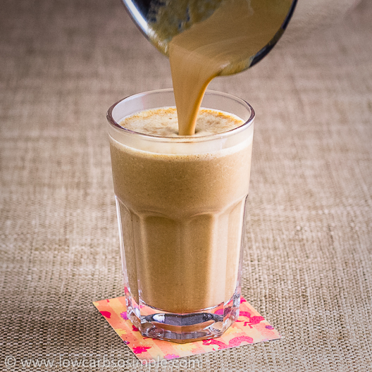 Sugar-Free Pumpkin-Spice Latte; Pouring the Drink into Glass | Low-Carb, So Simple!