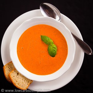 Starter Soup from Red Bell Pepper, Garlic and Basil | Low-Carb, So Simple!