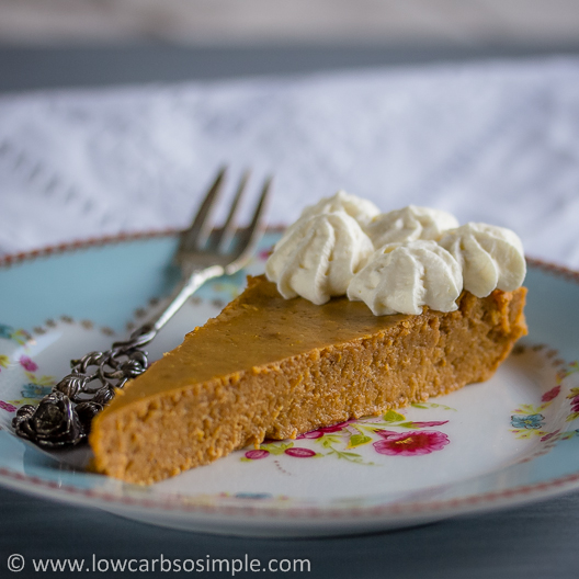 Crustless Low-Carb Pumpkin Pie | Low-Carb, So Simple!