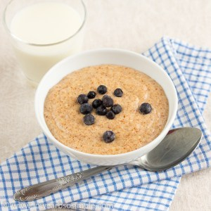 Gluten-Free Hot Cereal with Frozen Wild Blueberries | Low-Carb, So Simple!