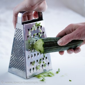 Tzatziki; Grating the Cucumber | Low-Carb, So Simple!
