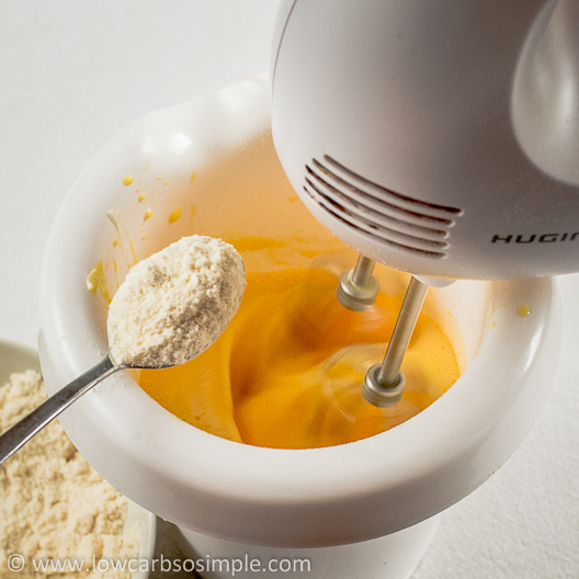 Gluten-Free Low-Carb Crepes; Adding the Dry Ingredients | Low-Carb, So Simple!
