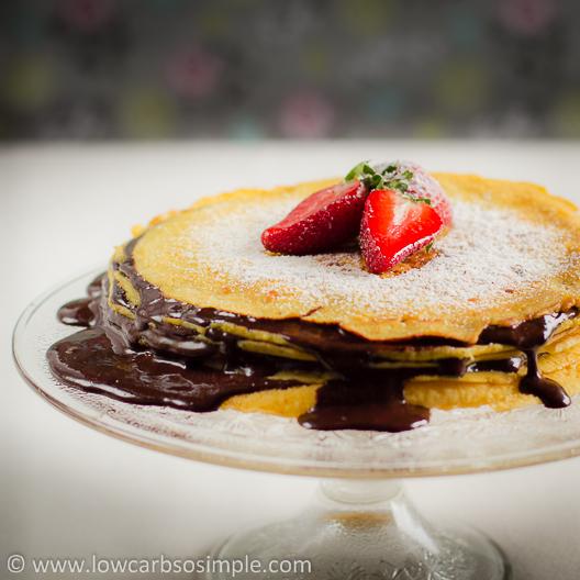 Sugar-Free Hot Fudge Sauce in Layered Cake   Low-Carb, So Simple!