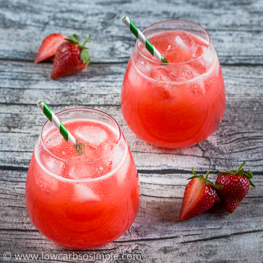 Sugar-Free Strawberry Agua Fresca | Low-Carb, So Simple!