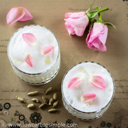 Low-Carb Lassi with Rose Water and Cardamom | Low-Carb, So Simple!