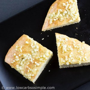 Flat Bread Deep Pan Pizza Crust; Basic Flat Bread with Crushed Garlic and Olive Oil| Low-Carb,So Simple!