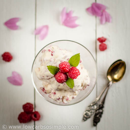 Raspberry Rose Water Ice Cream for 2 | Low-Carb. So Simple!