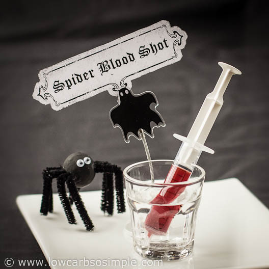 """Spider Blood Shot"" (Iced Tea Drink) for Halloween 