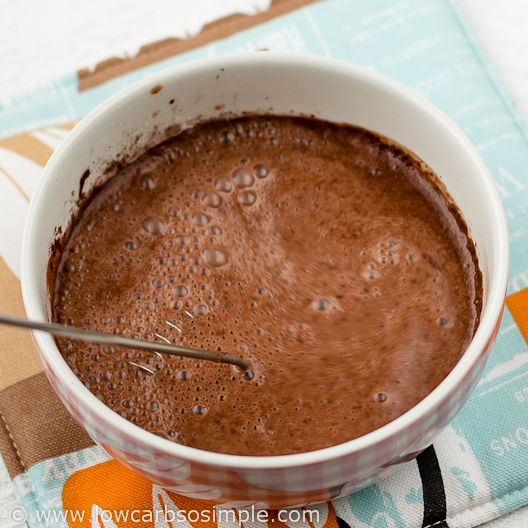 Image of Dairy-Free 4-Ingredient Chocolate Pudding; Whisking after Adding Glucomannan | Low-Carb, So Simple